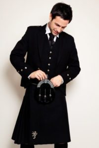 This all black kilt is quite popular.