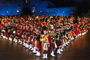 Men's Kilts are often used by performers at the Tattoo.
