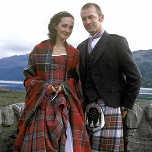 This is an erasaid - a traditional kilt for women