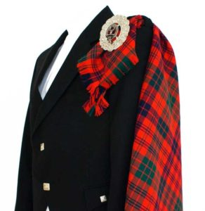 This Fly Plaid for Sale is worn with Fly Plaid Brooch