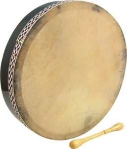 An Irish bodhran looks great with Irish kilts