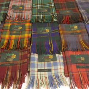 An Irish tartan scarf is ideal for everyday use.