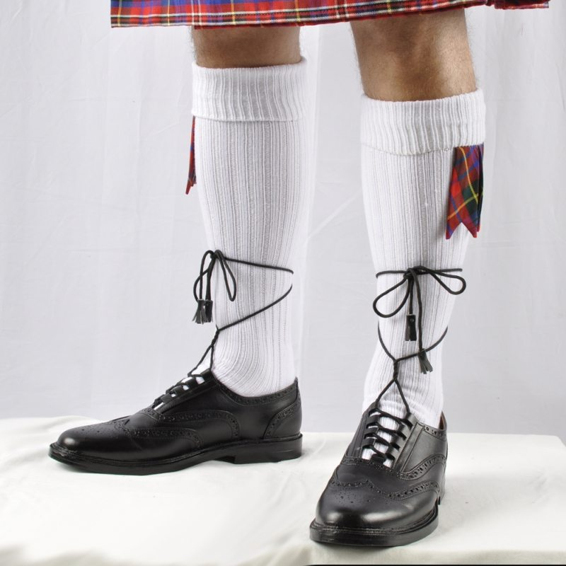White kilt socks are probably the most popular.