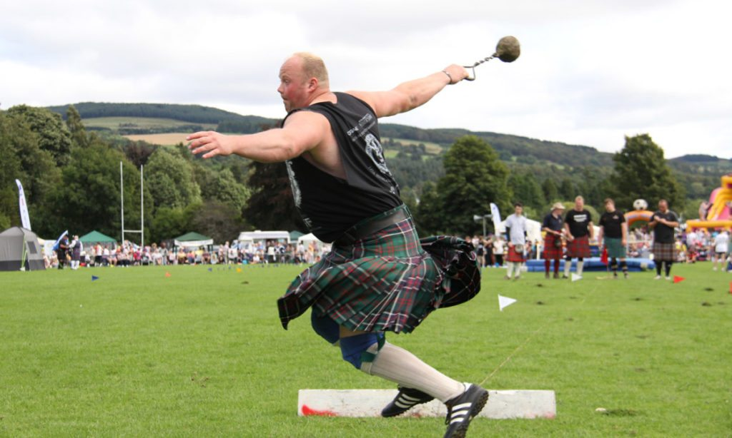 Specially adapted kilts for men are used in the Highland Games