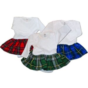 Onesie kilts are the best kilts for toddlers.