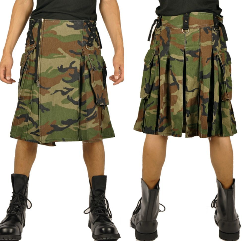 This is a casual military kilt.
