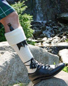 Sgian Dubhs are often worn in the kilt sock.