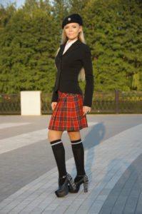A short kilt skirt is also a popular ladies kilt