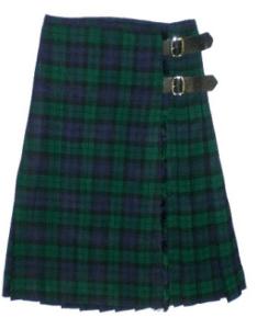 The Black Watch tartan kilt is one of the most popular kilts.