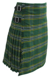 The Irish National kilt is perfect for St Patricks Day.