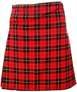 This is the Wallace Tartan kilt, one of our best sellers.