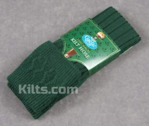 Here are our green colored kilt hose for sale.