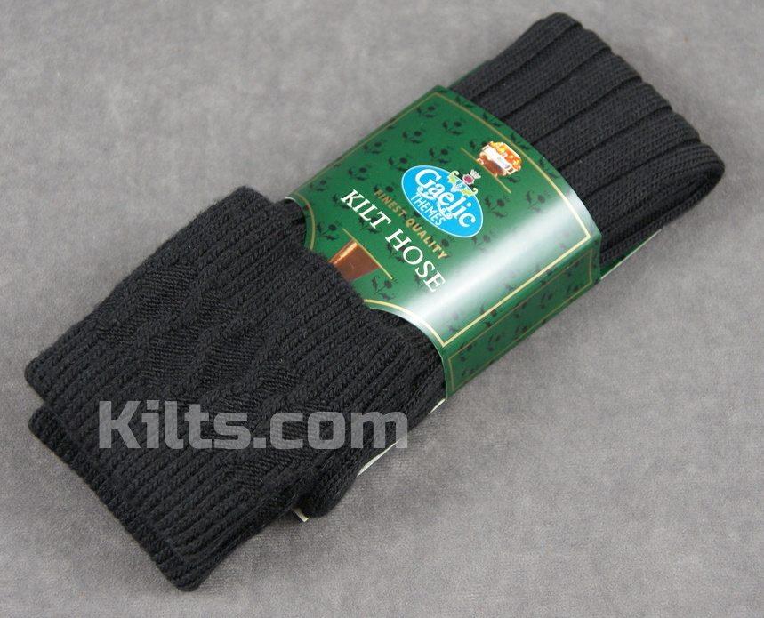 Black colored kilt hose for sale.