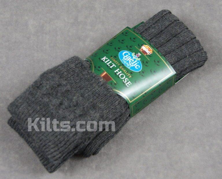 Charcoal Colored Kilt Hose for sale.