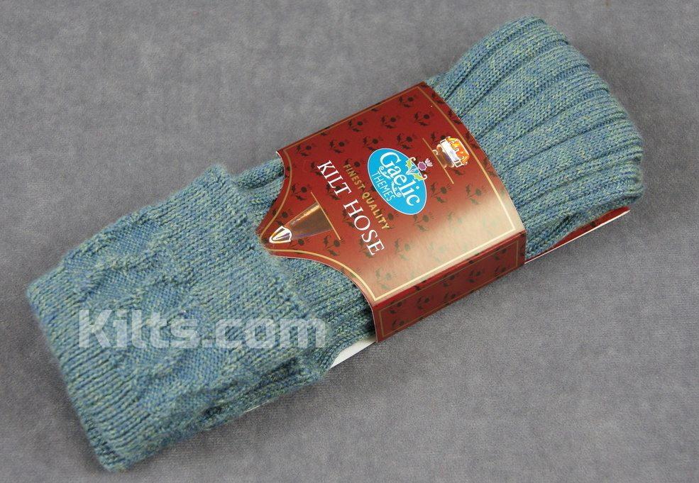Lovat Blue Kilt Socks for Sale.