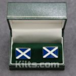 Check out our Saltire Cuff Links. Our Scotland Flag Cuff Links will look great with any outfit.