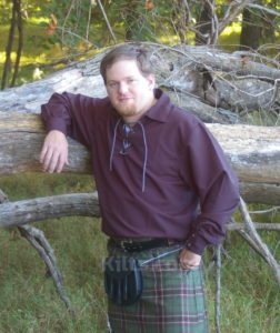 Great quality Black Highland Shirt for kilts for sale.