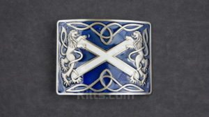 Check out our Blue Highland Saltire Kilt Belt Buckle for sale.