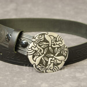 "Here is our Celtic Dogs buckle and 1.5"" Belt Combo for sale."