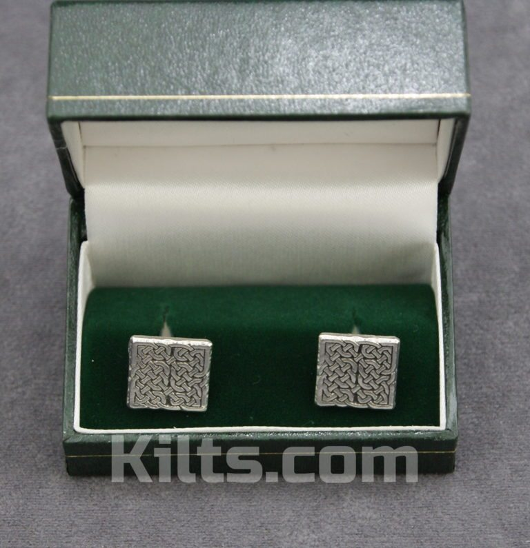 Check out our Celtic Knot Square Cuff Links for Kilts.