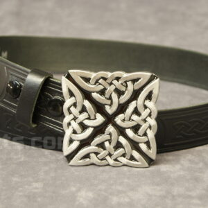 "Here is our fantastic Celtic Knot X Buckle and 1.5"" Belt Combo for sale."