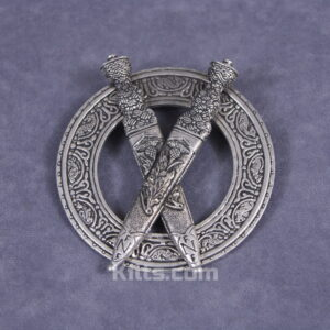 Here is our stylish Scottish Crossed Dirks Plaid Brooch.