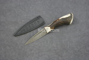Check out our Damascus Steel Stag Horn Sgian Dubh. One of our most popular kilt knifes.