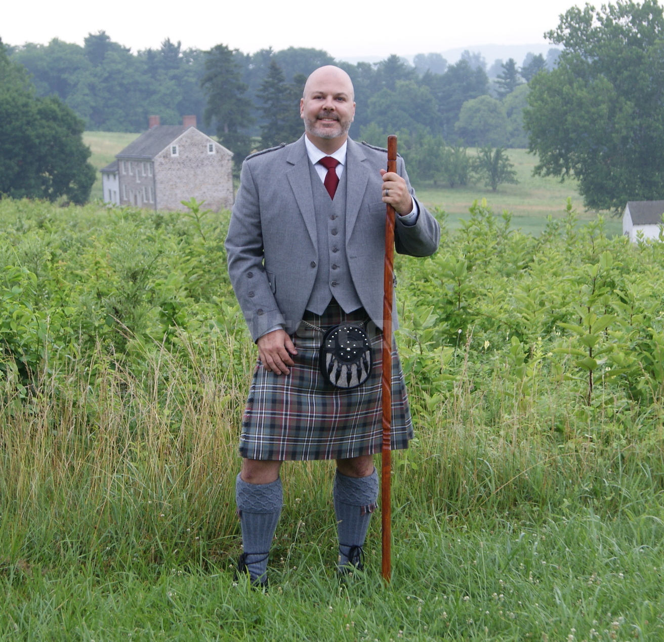 Check out our Grey Braemar Jacket for sale. Our Grey Braemar Vest looks great on a kilt.