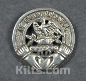 Need an Irish Clan Cap Badge? We have many different kilt badges for sale.