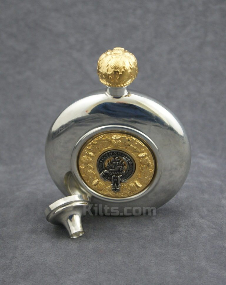 Check out our Irish Clan Crest 6 Oz Flask for sale.