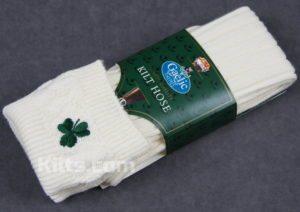 Check out our Irish Embroided Kilt Hose Socks for sale.