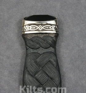Here is our Black Jewel Sgian Dubh. The perfect kilt knife.