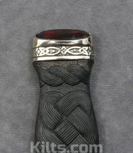 Looking for a Ruby Sgian Dubh? Look at this ruby kilt knife.