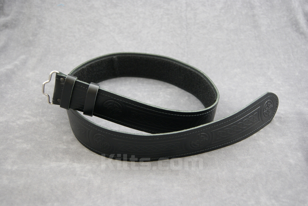 Here is our Kilt Belt Black Embossed for sale.