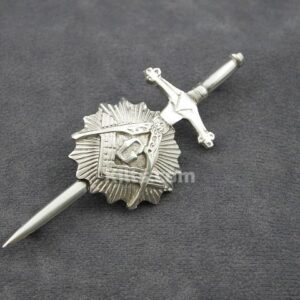 Here is our stylish Masonic Sunburst Kilt Pin.