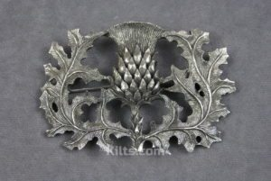 Check out our Pierced Thistle Plaid Brooch. The ideal Scottish Brooch for Kilts.