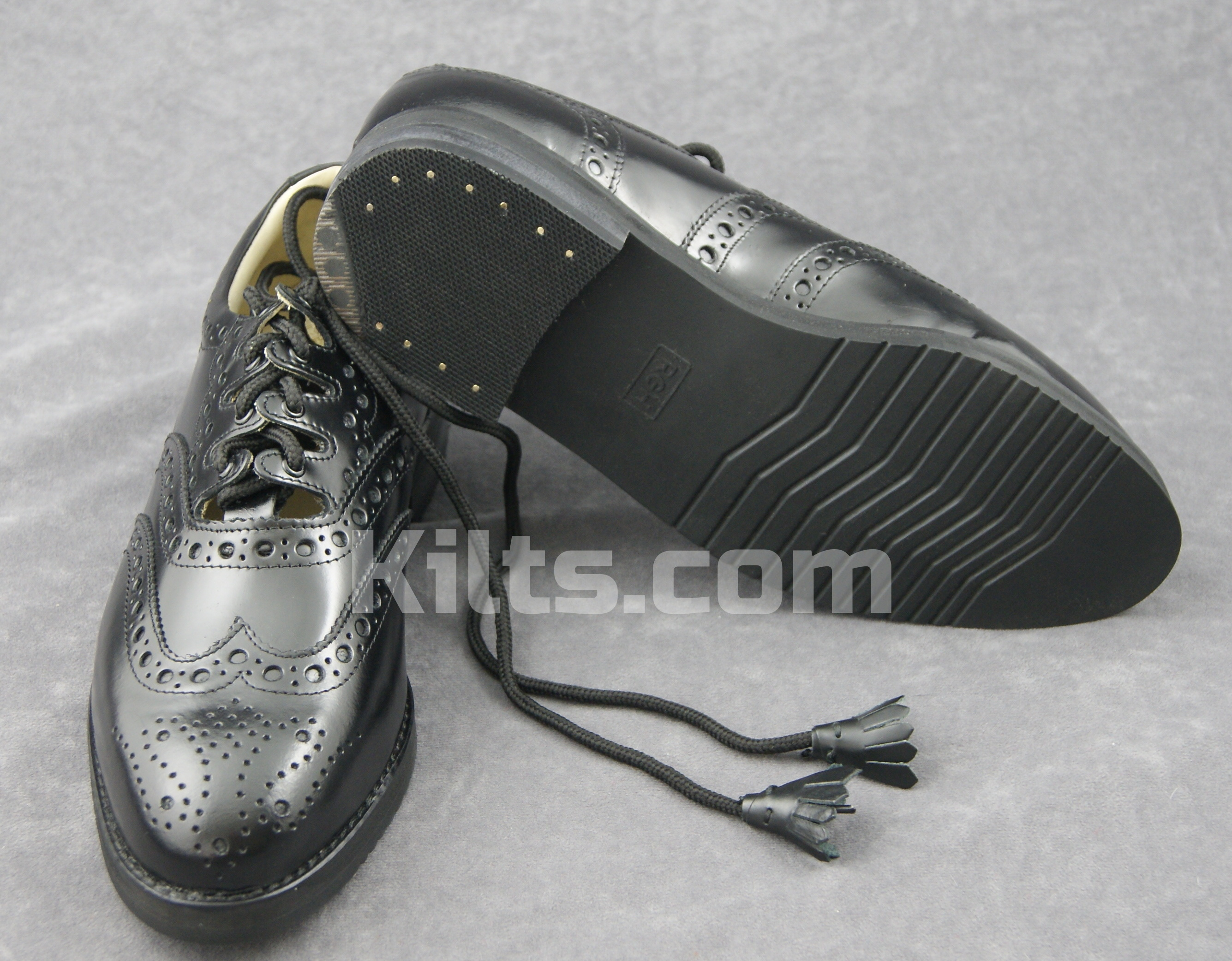 Have a look at our Pipers Kilt Shoes.