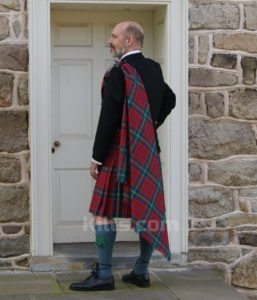 Check out our Scottish Top Stitched 8 Yard Kilt for sale.