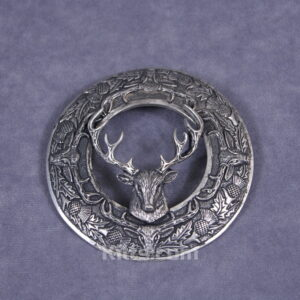 Here is our unique and stylish Stag Head Plaid Brooch.