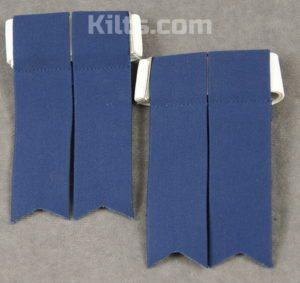 Check out our Standard Kilt Hose Flashes for Sale in Navy.
