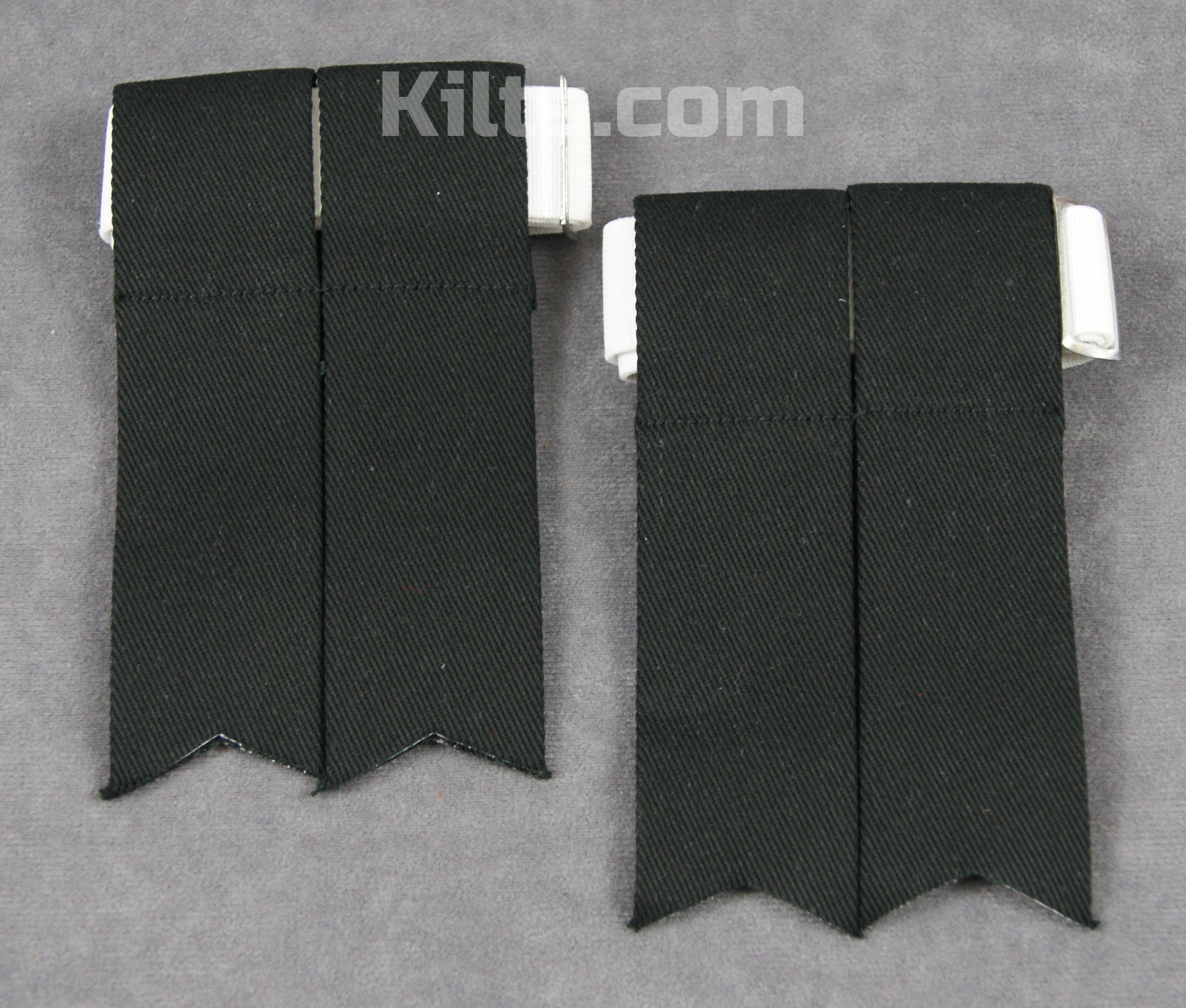 Check out our Standard Kilt Sock Flashes for Sale in Black.