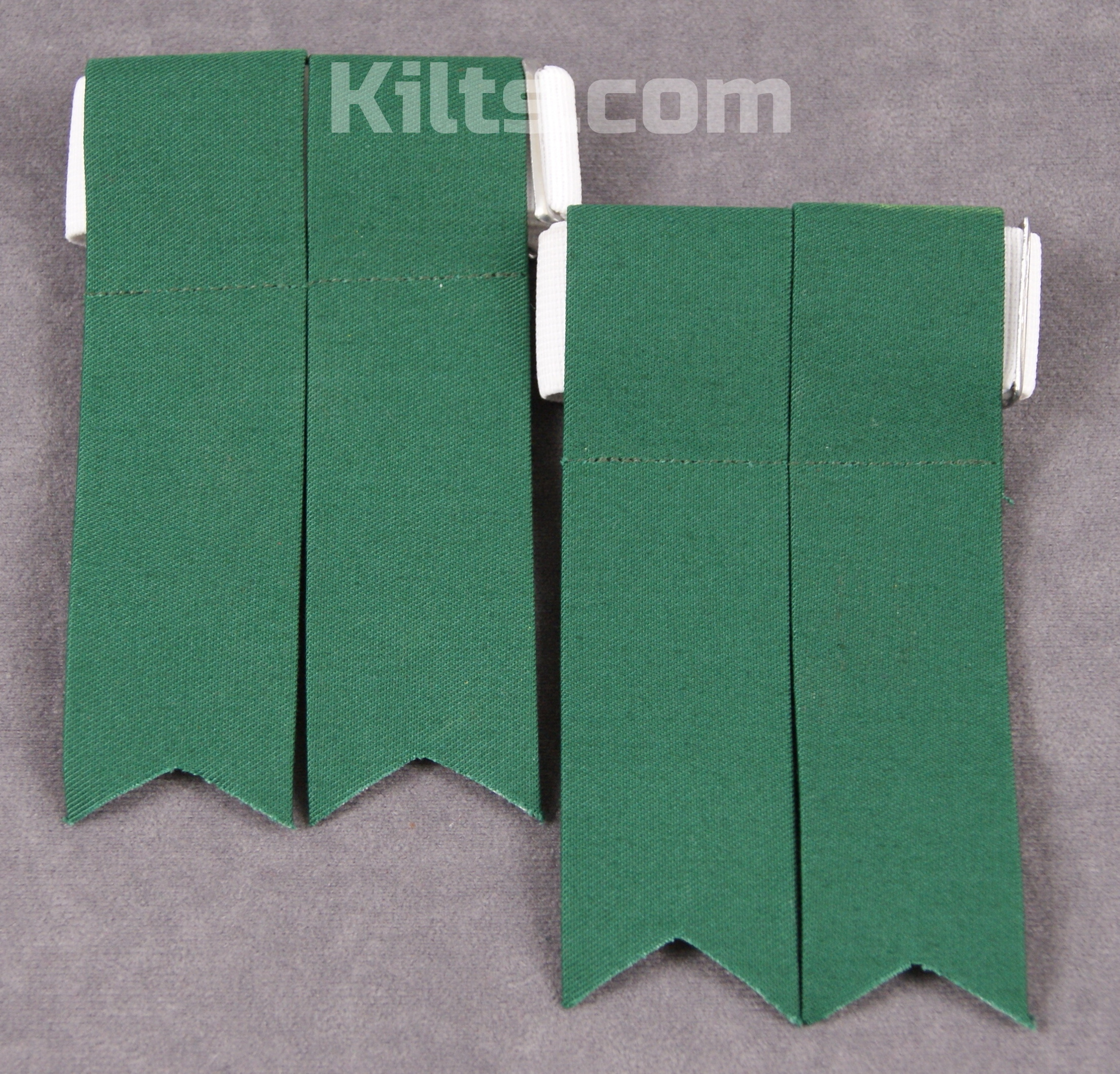Check out our Standard Kilt Sock Flashes for sale in Green.