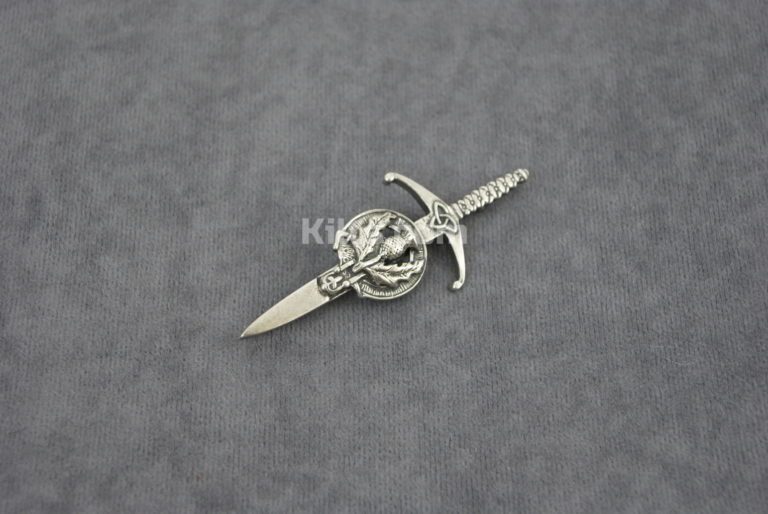 Have a look at our Scottish Thistle Kilt Pin.