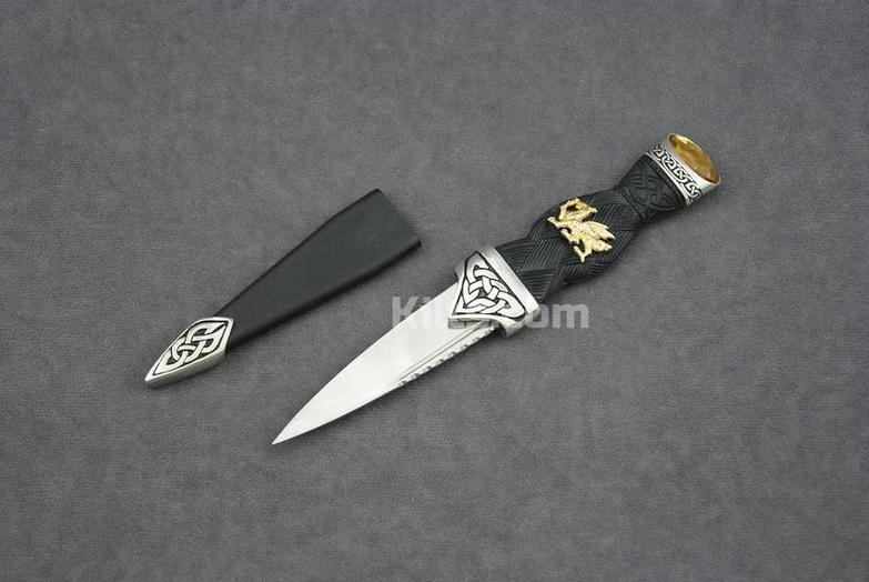 Check out our Welsh Dress Sgian Dubh. The perfect Welsh kilt knife.