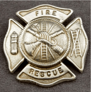 This firefighter cap badge will look great with your cap.