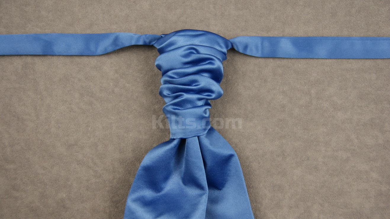 Here is our Blue Ruche Tie for sale.