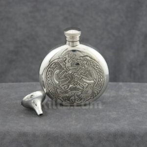 View our Book of Kells Sporran Flask. The perfect whiskey hip flask!