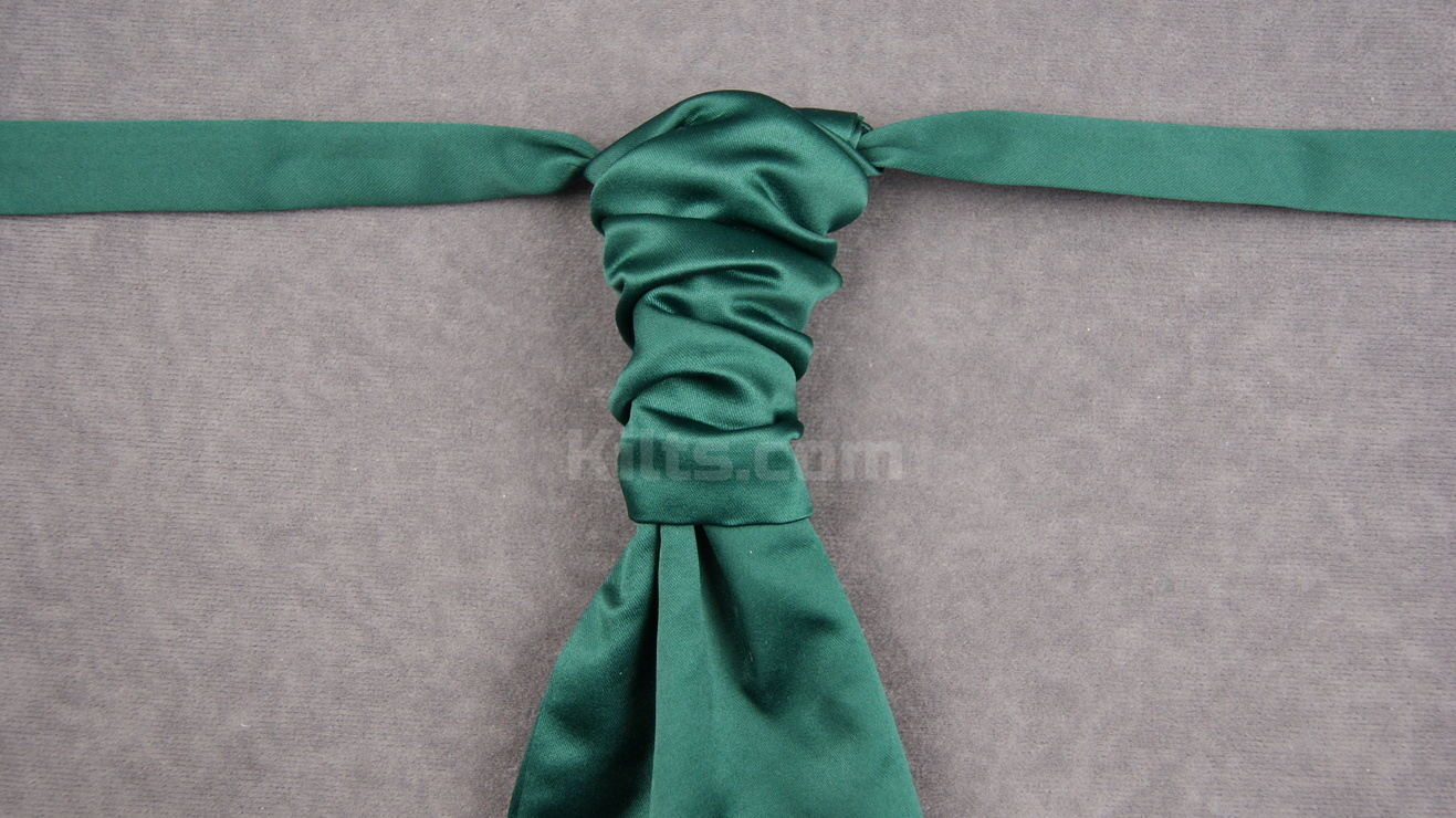 Check out our Bottle Green Ruche Tie for sale.