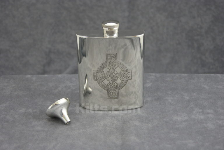 View our Celtic Cross Flask. The perfect Celtic Cross Whisky Hip Flask for sale.