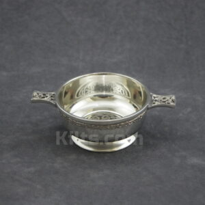 View our Circular Knot Work Quaich for sale. This is the best wedding quaich for sale.
